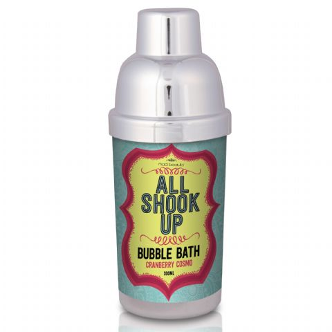 All Shook Up Cocktail Shaker Bubble Bath 300ml Mad Beauty